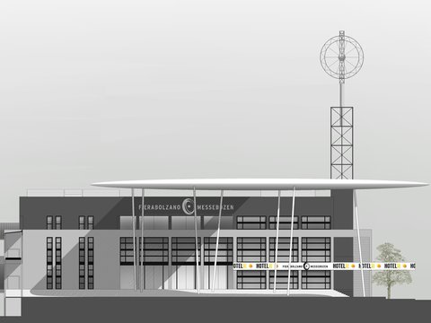 Redesign of entrance lobby and exhibition center